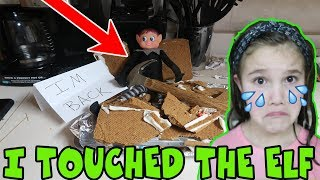 I Touched My Elf! Elf Breaks Gingerbread House! How To Restore Elf