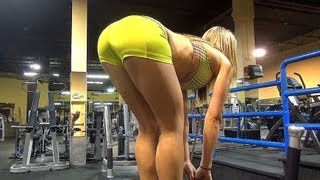 Butt Workout in the Gym w HOT Fitness Model!! Exercise 6 & 7