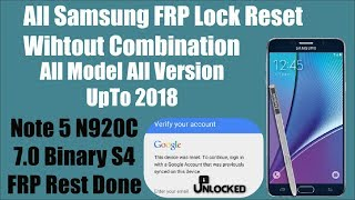 How To Bypass Google Account Samsung Galaxy Note 5 FRP Bypass