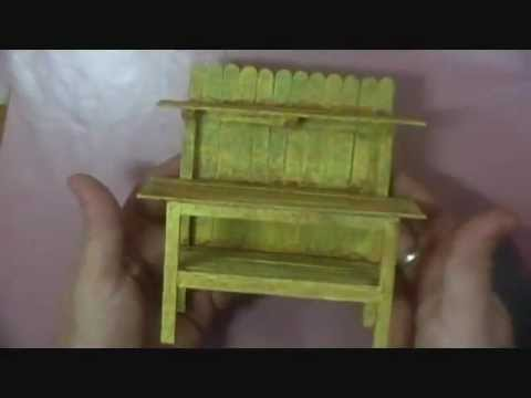 Making a Miniature Potting Bench - 1/12 scale - Part 2