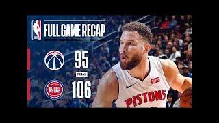 b715e0dfb33b Detroit Pistons vs Washington Wizards Full Game Highlights