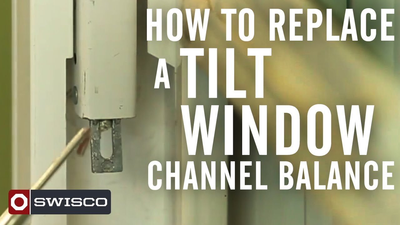 How To Replace A Tilt Window Channel Balance Youtube