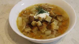 Простой мясной суп с вермишелью и морковкой