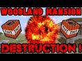 How Much TNT to Destroy a Woodland Mansion ?! Minecraft : Xbox + ps3 + ps4 + switch