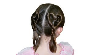 Pair of Heart Shaped Ponytails - Tutorial
