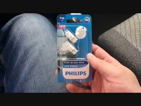 Обзор светодиодных ламп Philips T10 W5W