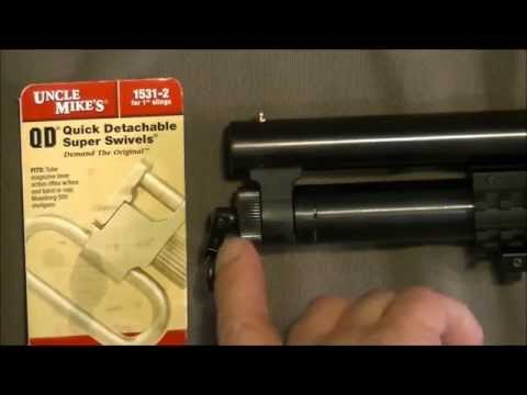 Uncle Mike's Quick Detachable Super 1 Inch Swivels Install On A Mossberg Maverick 88 How To DIY