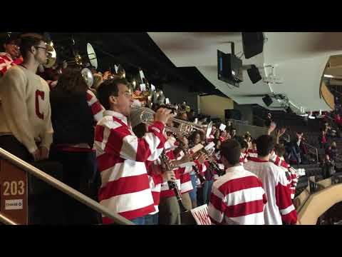 Cornell Big Red Pep Band plays Doctor Worm at Madison Square Garden Red Hot Hockey 2017