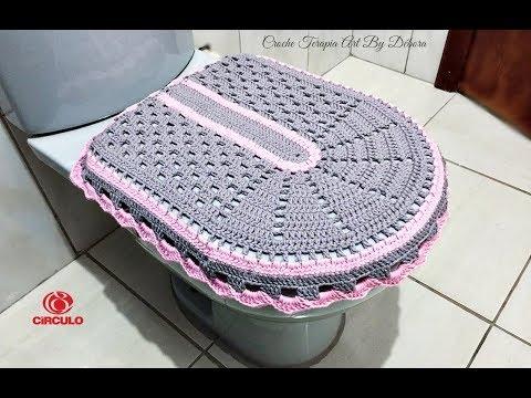 Tampa vaso - Jogo de Banheiro de Crochê Simples