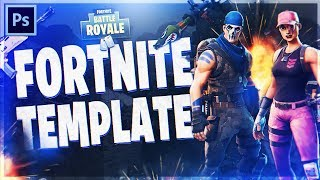 Fortnite: Battle Royale Thumbnail Template (Photoshop CC/CS6)
