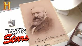 Pawn Stars: SHOCKING PRICE for Antique Presidential Portrait (Season 8) | History
