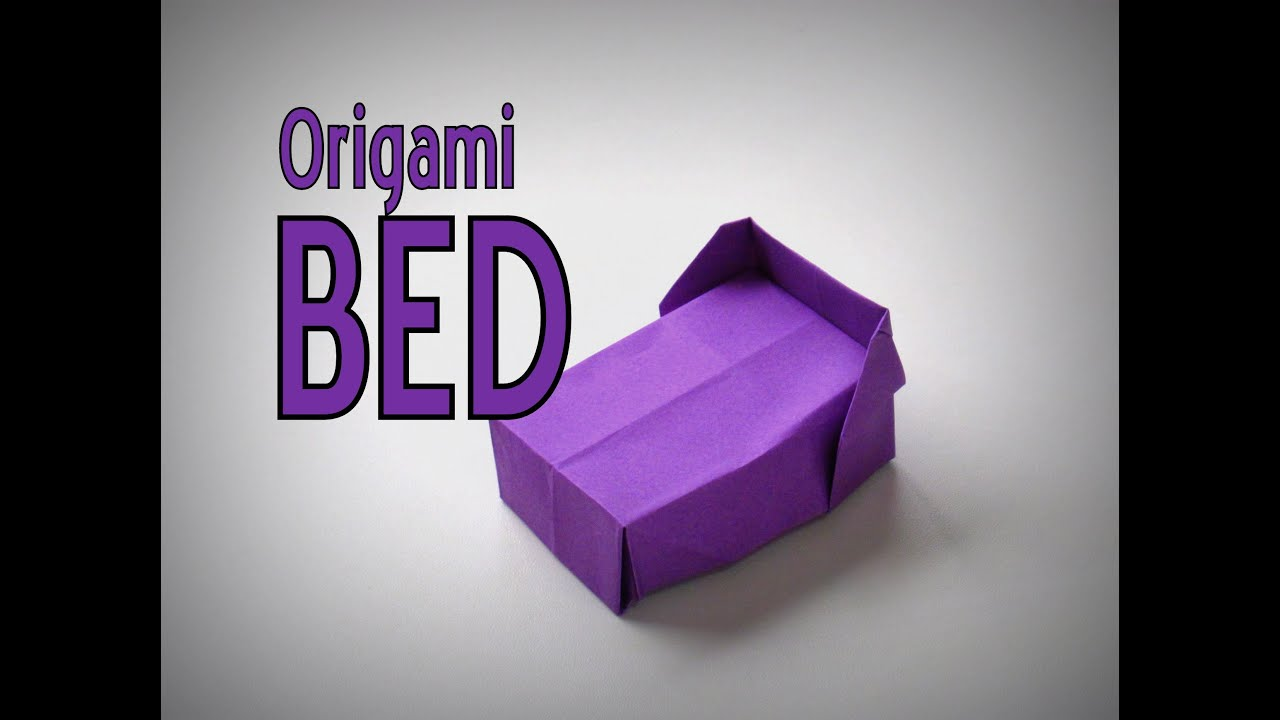 Origami - How to make a BED - YouTube for Origami Bed Instructions  28cpg