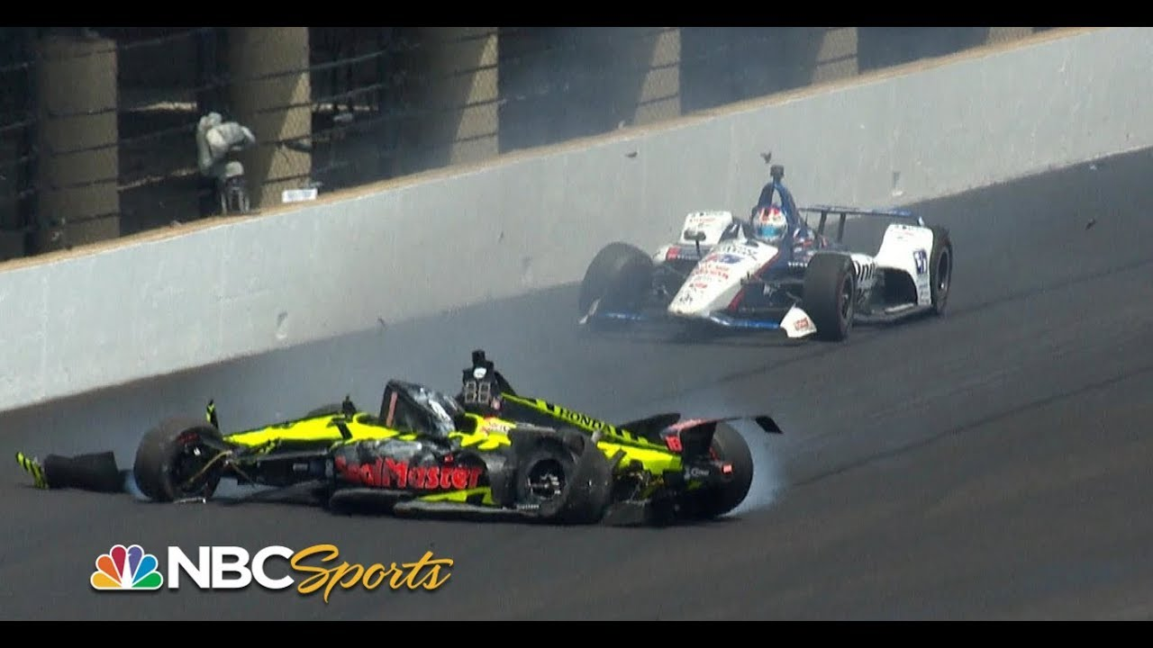 Sebastien Bourdais, Graham Rahal trigger multi-car wreck | Indy 500 | Motorsports on NBC