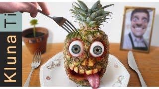 Eating a PINEAPPLE SKULL!!! - KLUNATIK (2020) - ASMR MUKBANG NO TALK