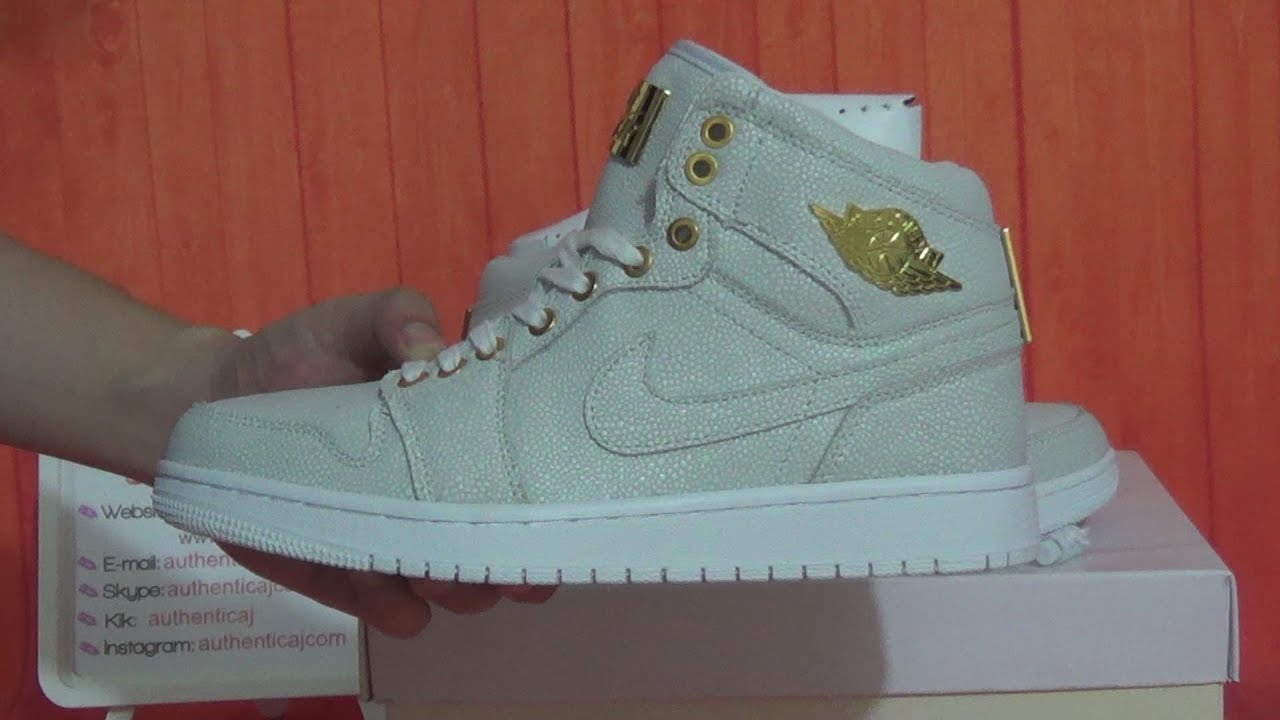 official photos 449b6 ad5e3 Authentic Air jordan 1 Pinnacle 1s White 24K Gold HD Unboxing Review From  authenticaj