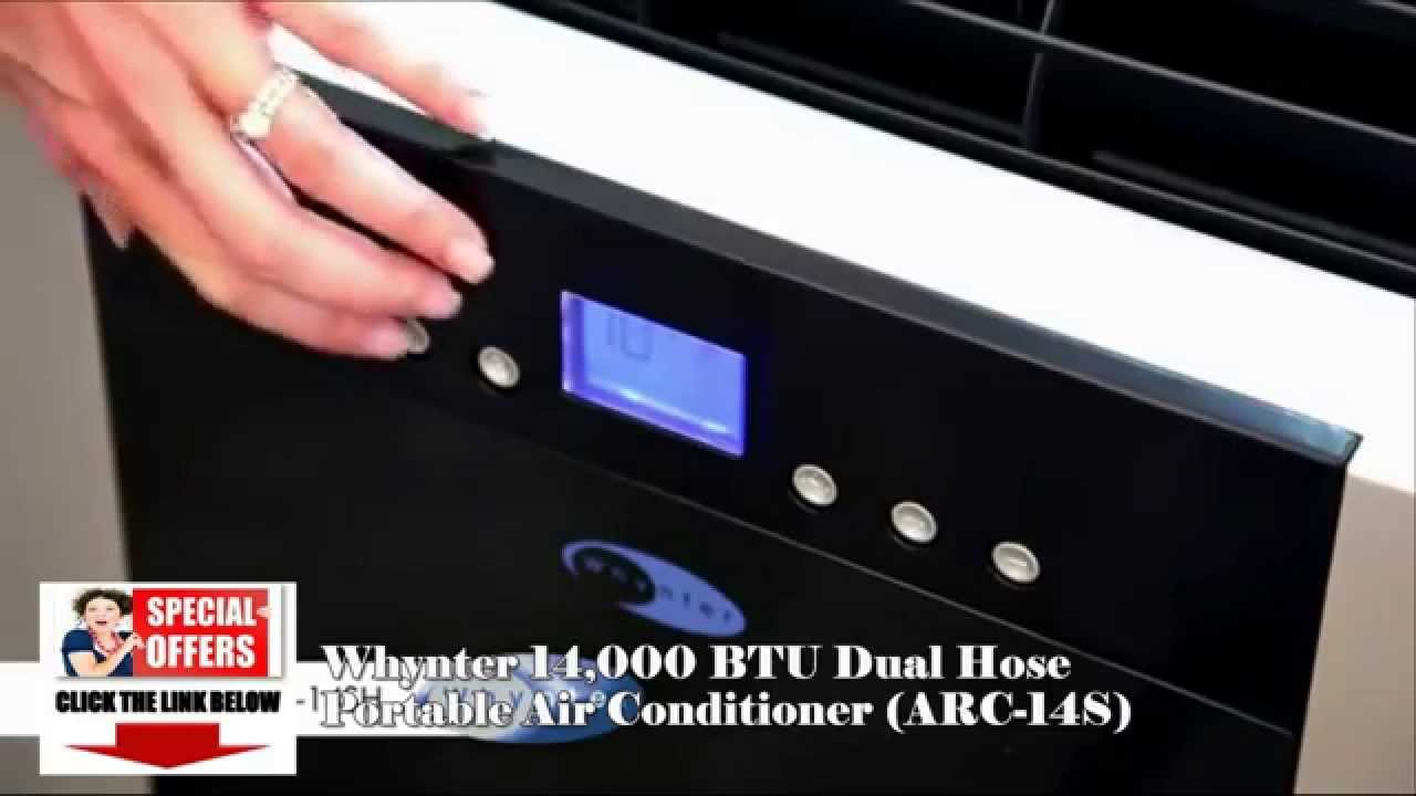 Whynter ARC 14S Dual Hose PORTABLE AIR CONDITIONER??*