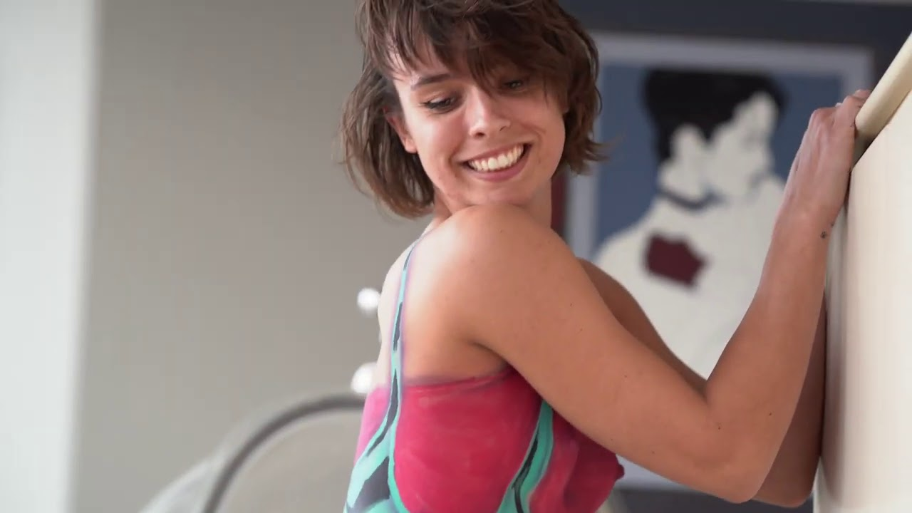 Download Amy Does Aerobics Wearing Only Body Paint
