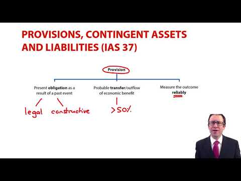 IAS 37 - provisions and contingent liabilities - ACCA Financial Reporting (FR)