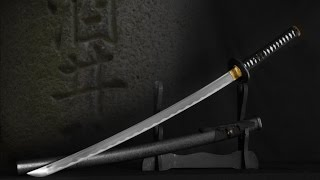 Black Bonsai Samurai Katana Sword With Scabbard - $49.99