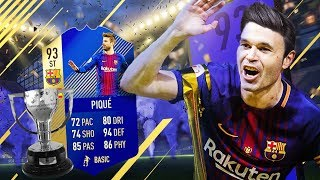 93 TOTS STRIKER PIQUE! BARCA CHAMPIONS OF SPAIN SQUAD! FIFA 18 ULTIMATE TEAM