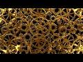 Gold Brass Gear Wheels | Hypnotic Illusion Wheel | Animated Background | 3D Blender Animation #8