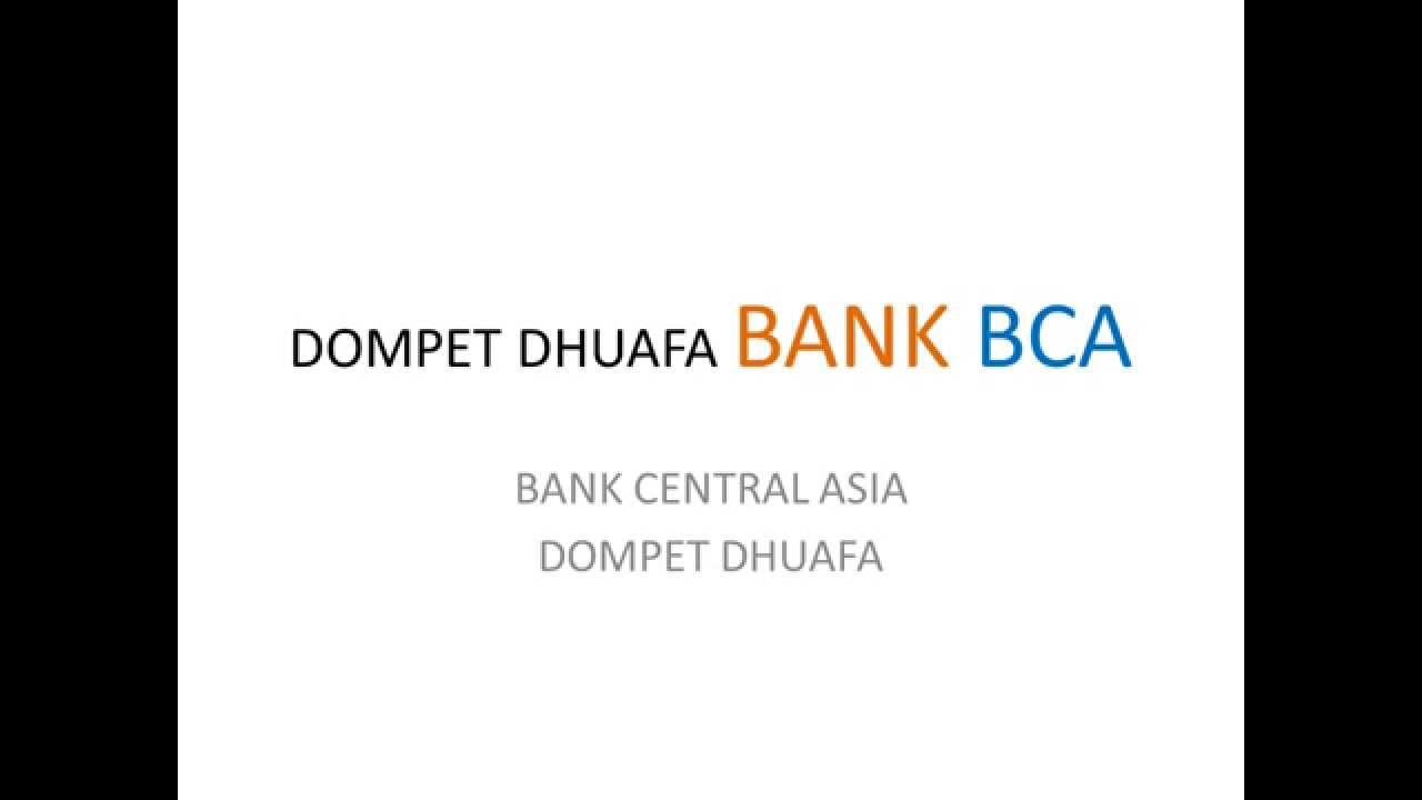 kode bank bca dompet dhuafa zakat penghasilan - YouTube