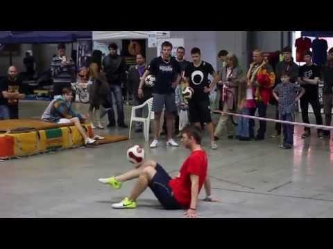 Freestyle football exhibition PVA Expo Prague 2013