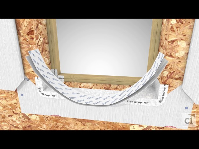 Deep recessed window installation with DuPont™ Tyvek® weatherization systems