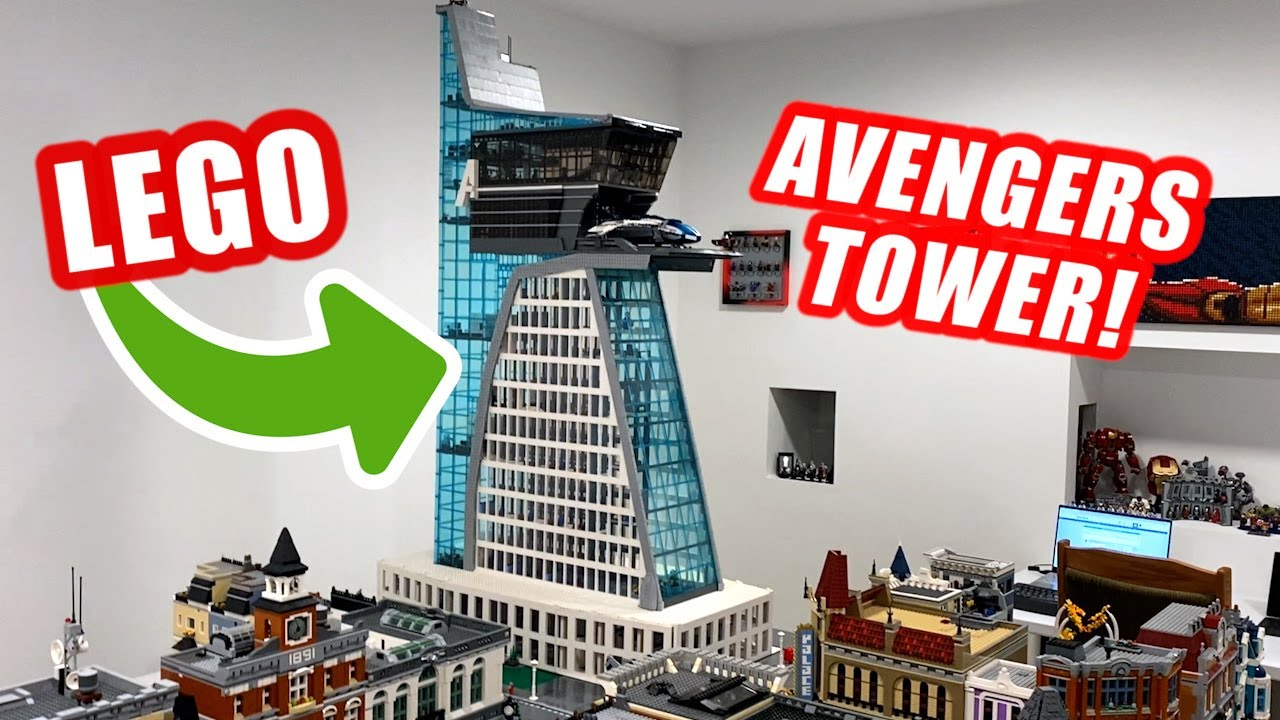 Huge LEGO Avengers Tower with Interior Details!