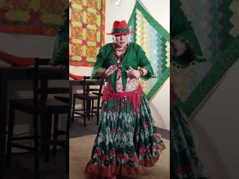 """Gypsy Butterfly of Corvallis Expressive Skirt """"Carol Of The Bells"""""""