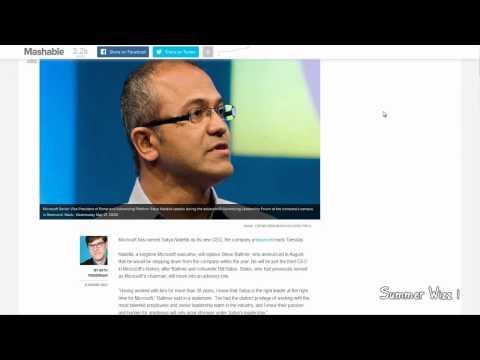 Microsoft Names Satya Nadella as Its New CEO