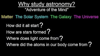 Astronomy - Chapter 1: Introduction (10 of 10) Why Study Astronomy?