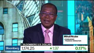 Zimbabwe Finance Minister Prof Mthuli Ncube on Bloomberg Business News in New York