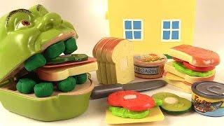 Shrek Mange un Sandwich Déjeuner Jeu d'Imitation à Découper