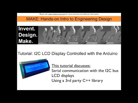 Tutorial: I2C Bus LCD Display controlled with the Arduino