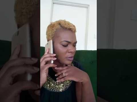 Wife arguing with a mpango  wa Kando on phone.