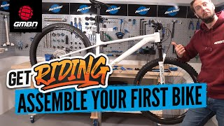 How To Assemble Y๐ur First Mountain Bike | Build A Bike From The Box