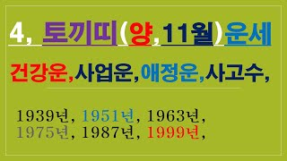 토끼띠.11월운세,건강운,금전운,애정운,사고수,010/4258/8864