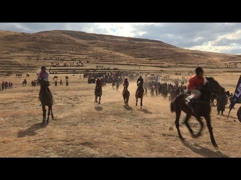 Tough jockeys and fierce gambling at Lesotho horseracing