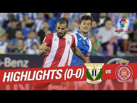 Resumen de CD Leganés vs Girona FC (0-0)