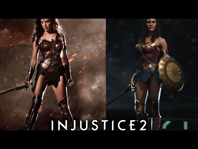 Wonder Woman The Movie - Injustice 2 Wonder Woman The Movie Outfit In Game Gameplay