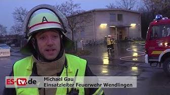 Brand in Wendlingen