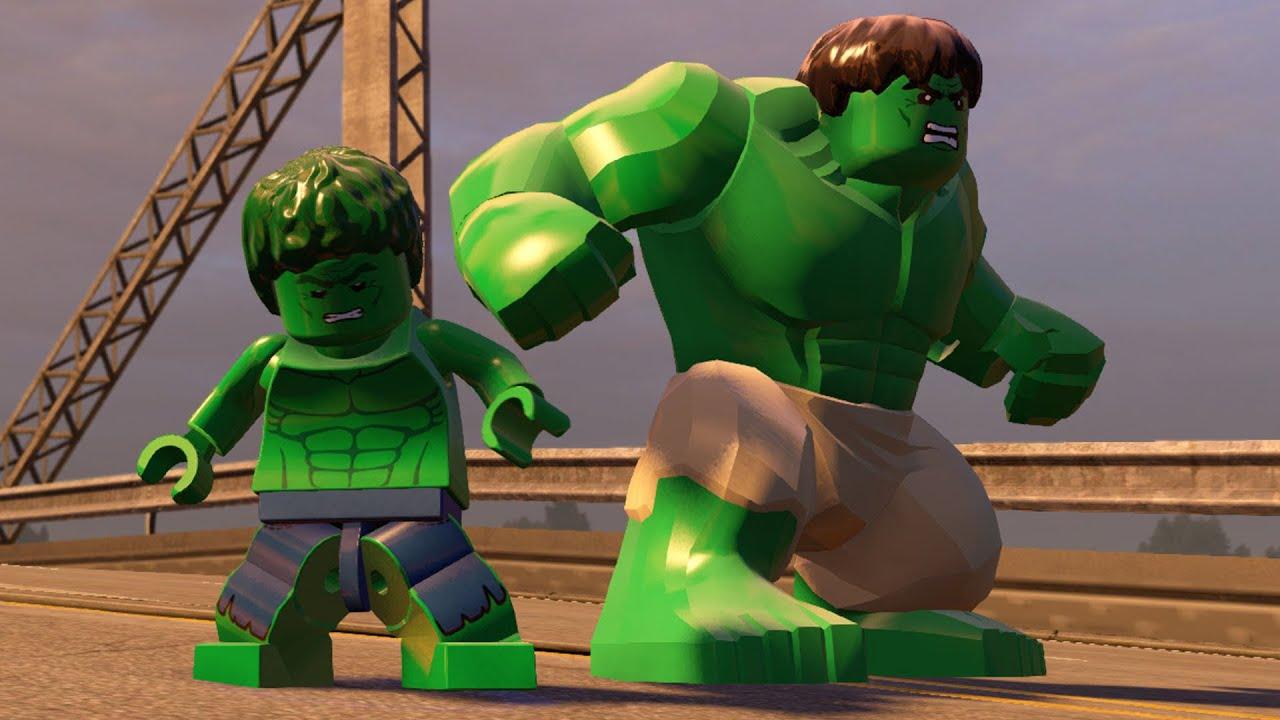 Lego Marvels Avengers All Hulk Characters Free Roam Gameplay