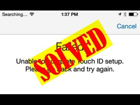[Easy Ways] Failed Unable to Complete Touch ID Setup Please Go Back and Try Again iPhone Error