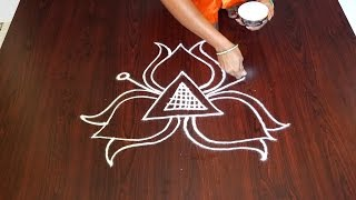 easy rangoli designs for beginners || easy kolam rangoli || new and easy rangoli designs