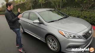 2016 Hyundai Sonata Sport 2.0T Test Drive Video Review