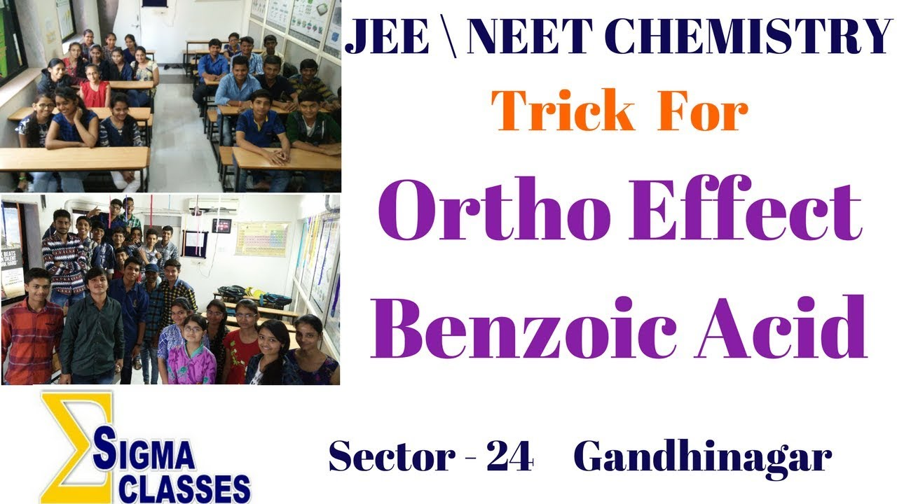 Ortho Effect Of Benzoic Acid | CHEMISTRY | IIT | JEE | NEET | By Chintan Sir