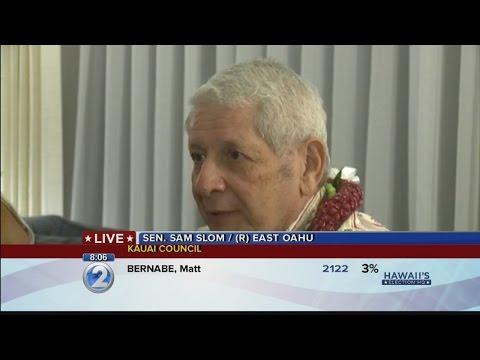 1st printout: State Sen. Sam Slom, R, East Oahu