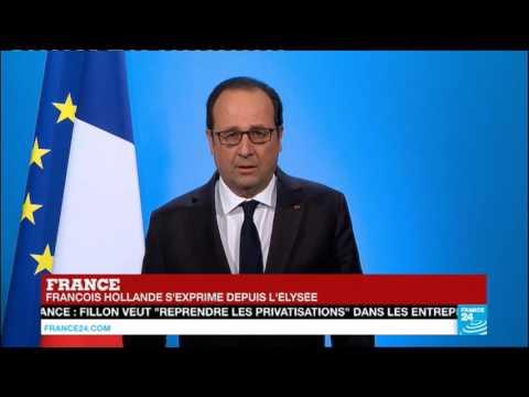 """URGENT """"J'ai décidé de ne pas être candidat à l'élection présidentielle"""" : François Hollande"""