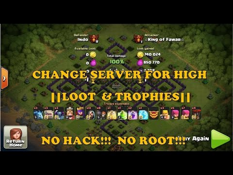 Clash Of Clans - How To Change Coc Server. NO HACK!!! NO ROOT!!! REQUIRED - MUST WATCH!!